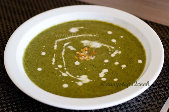 yummy crunchy broccoli soup with walnut easy recipe