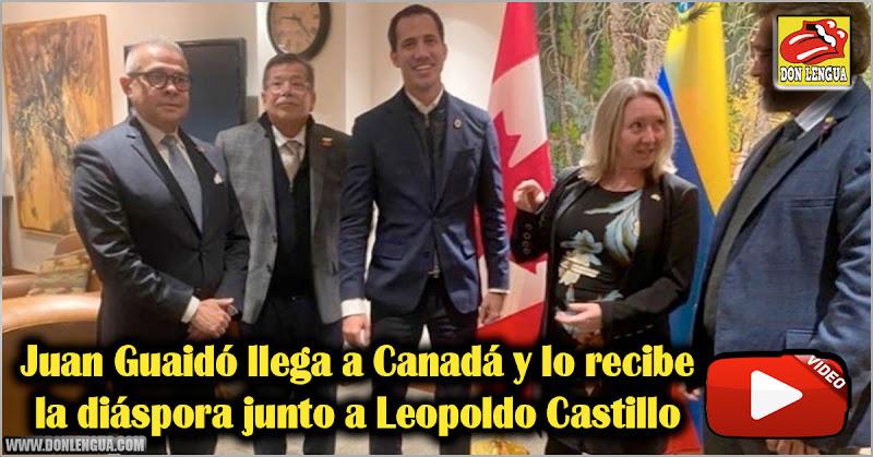 Juan Guaidó llega a Canadá y lo recibe la diáspora junto a Leopoldo Castillo