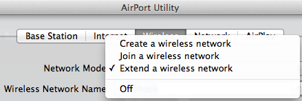 Airport Time Capsule Network Mode