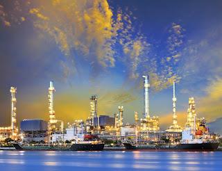Petrochemical plant refinery tanker ship
