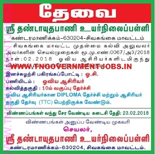sri-dhandayuthapani-high-school-sivagangai-drawing-teacher-art-teacher-govt-post-recruitment-feb-2018-tngovernmentjobs-in