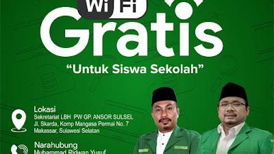 Jelang Kemerdekaan ke 75 RI, Ansor Sulsel Siapkan Layanan Wi-Fi Gratis untuk Siswa