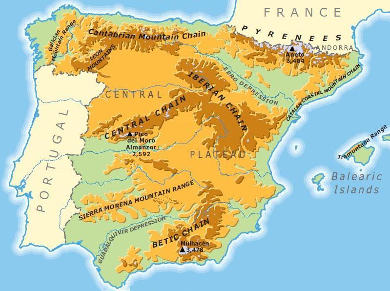 Map Of Spain Mountains.Wild Nature Of The Cantabrian Mountains Spain Geographic Location