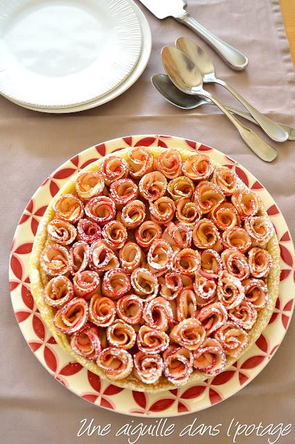 """Tarte aux pommes """"bouquet de roses"""""""