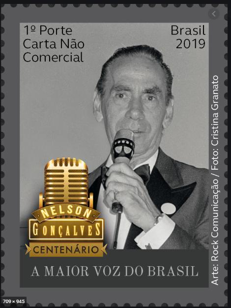 Filatelía│Correios lançam selo em homenagem a Nelson Gonçalves
