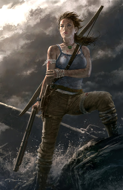 lara croft fan art drawing