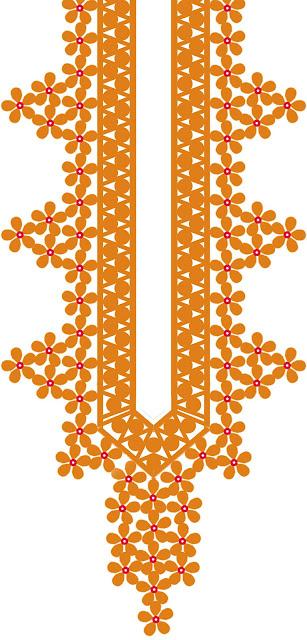 Cutwork neck design 5