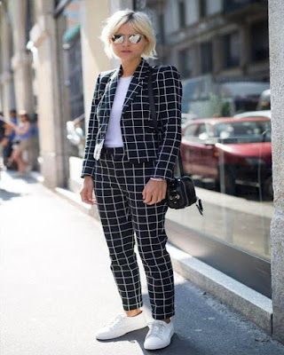 outfit formal a cuadros