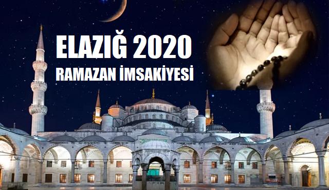 Elazığ 2020 Ramazan İmsakiyesi, İftar ve Sahur Vakitleri