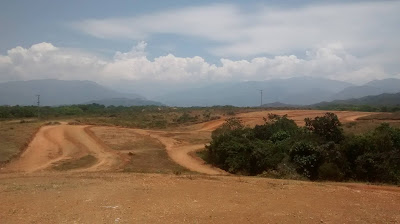 The landscape around Chaparral in Tolima, Colombia.