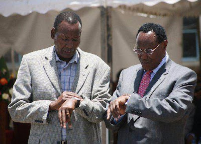 Nkaiserry and Saitoti. PHOTO | FILE