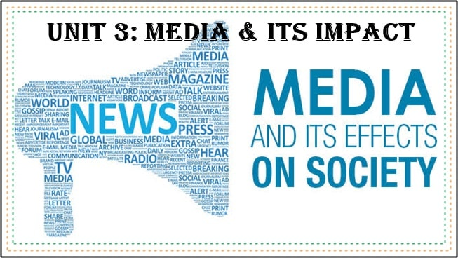 Unit 3 Media and its Impact Notes