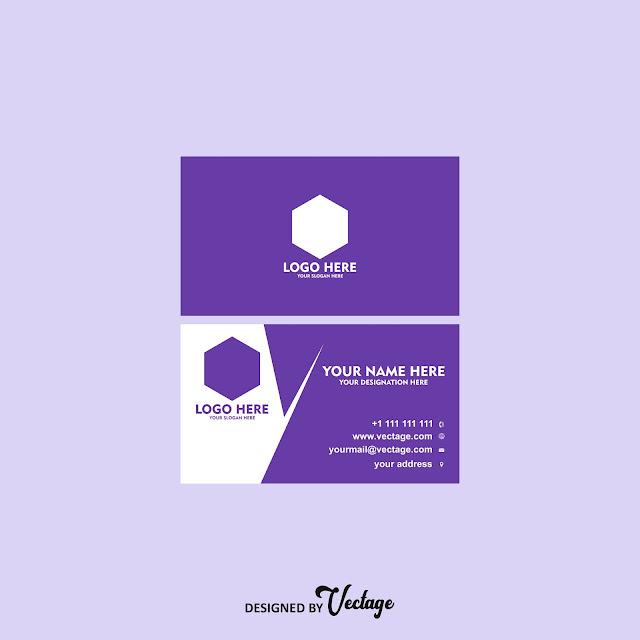Business card design template,