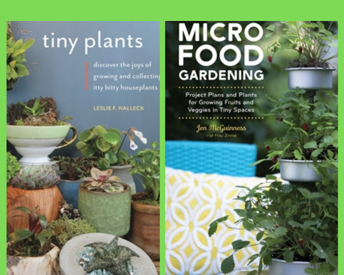 Micro Food Gardening and Tiny Plants books giveaway