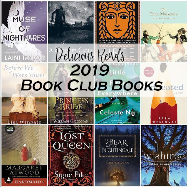 2019 Delicious Reads Book Club Books Monthly