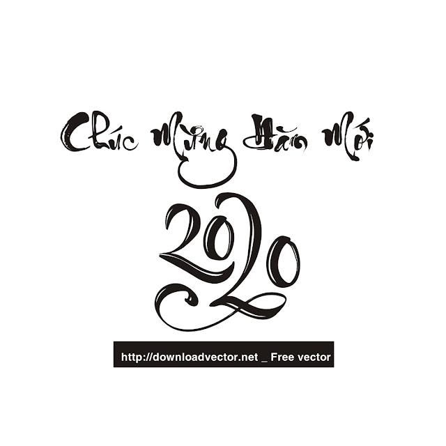vector thư pháp miễn phí 2020