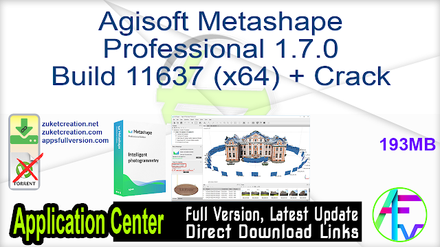 Agisoft Metashape Professional 1.7.0 Build 11637 (x64) + Crack