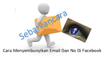 Cara menyembunyikan email di facebook