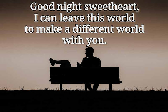 Good night wishes for lovers