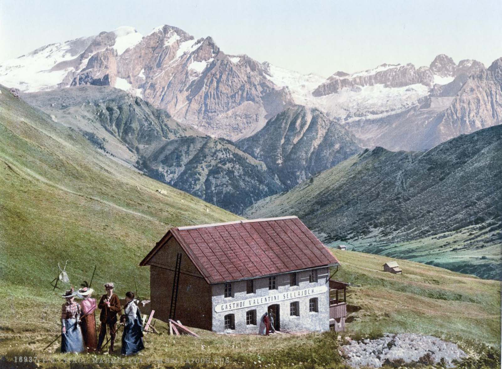 Marmolada from the Sellajoch.