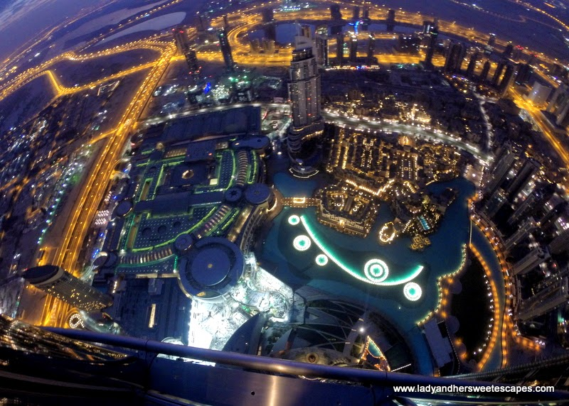 a sparkling Dubai before sunrise