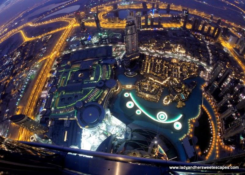 a sparkling Dubai before sunrise