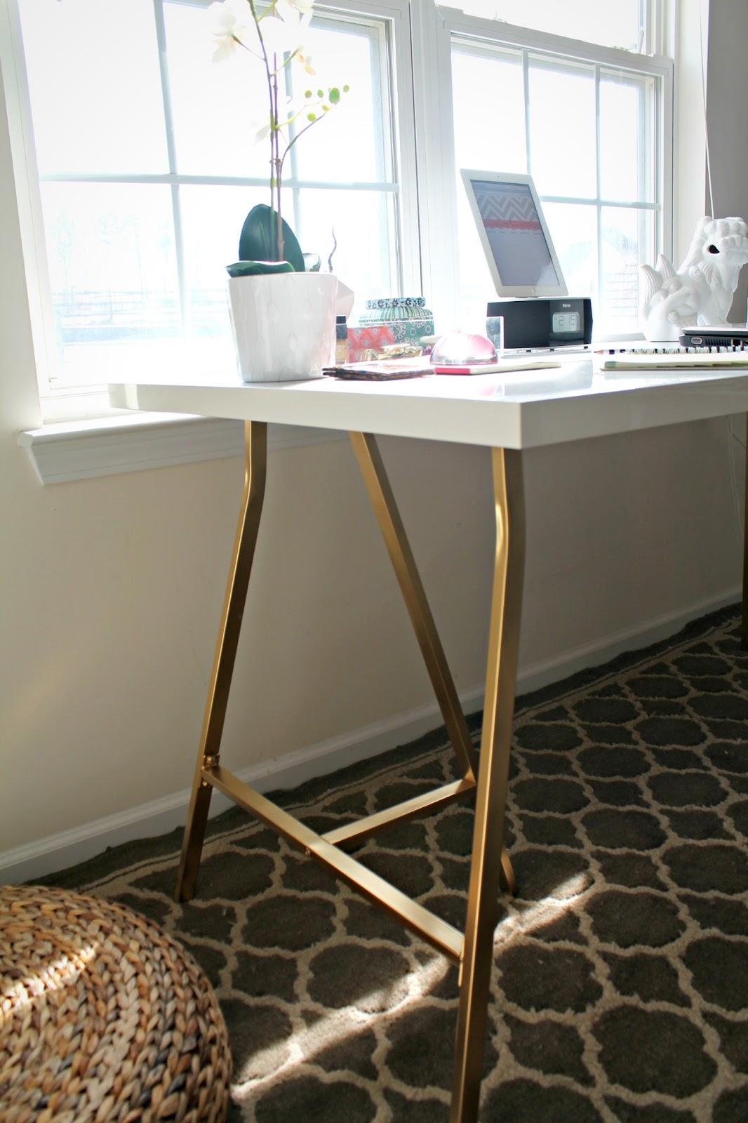 ikea hack my office desk shannon claire. Black Bedroom Furniture Sets. Home Design Ideas