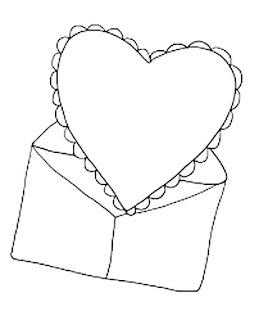 מעטפה ולב לצביעה