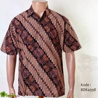 Model Baju Batik Pria Auto Pocket