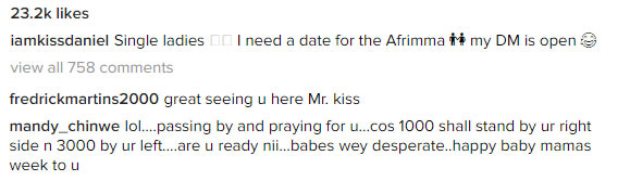 Kiss Daniel: I need a date, single ladies should inbox me
