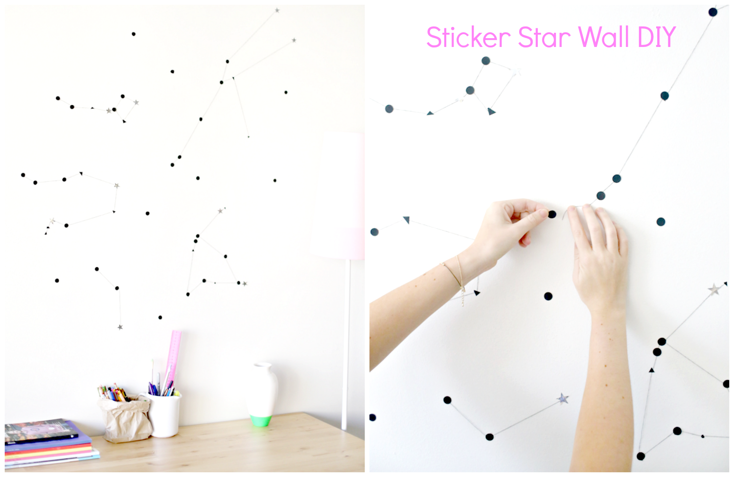 wall decor with stars