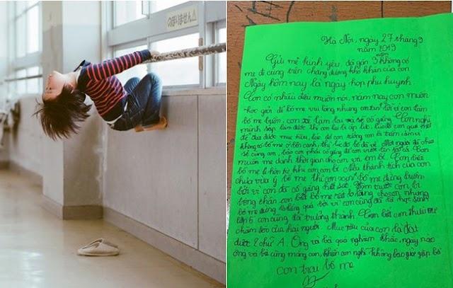 Rơi nước mắt bức thư bé trai lớp 5 gửi bố mẹ đã ly hôn: 'Con muốn mẹ dành thời gian cho con và em bé'