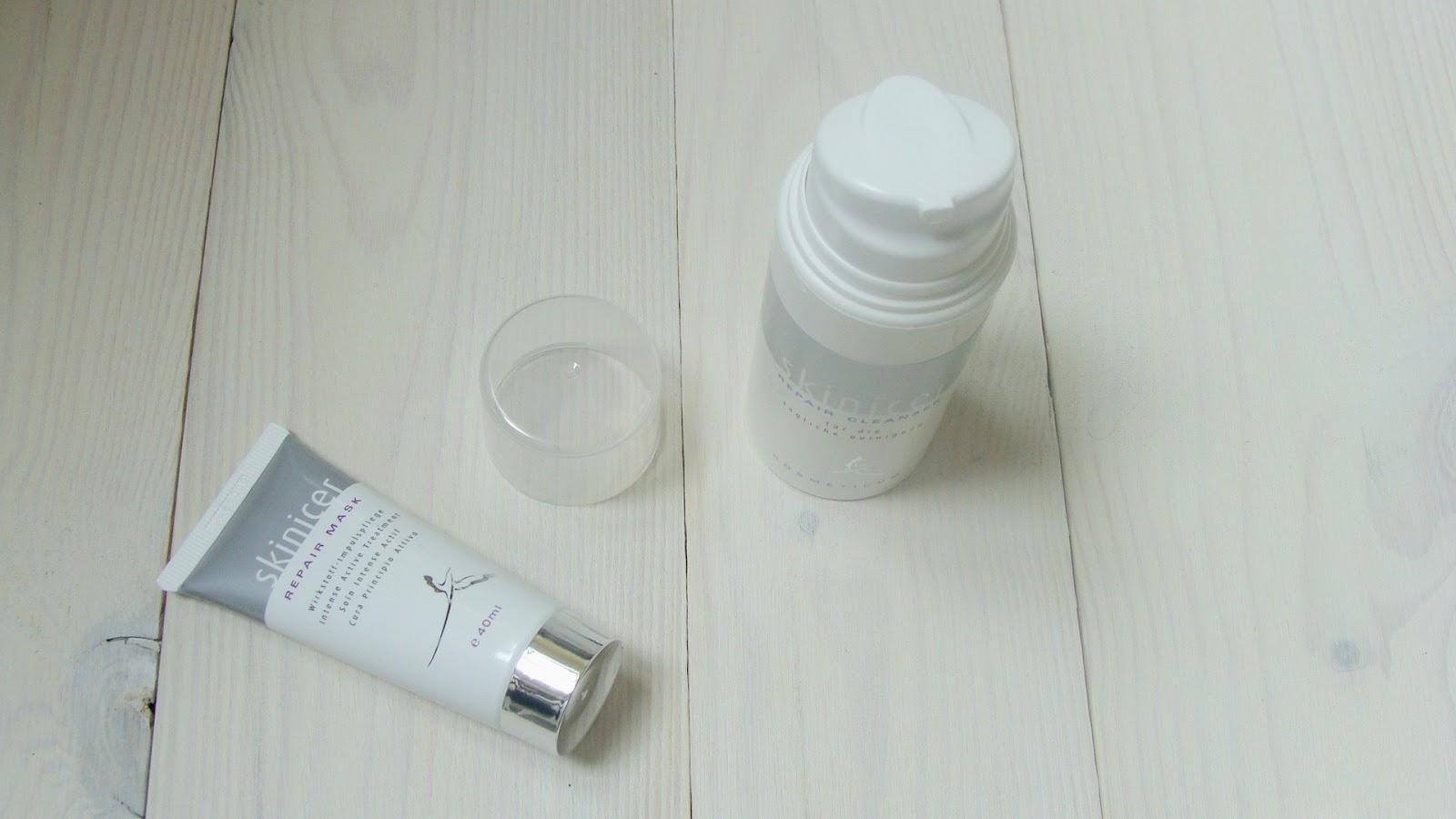 Kosmetyki Skinicer, Skinicer Repair Cleanser, Skinicer Repair Mask, cera problematyczna