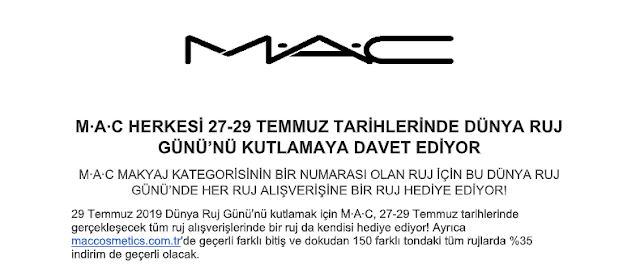 mac cosmetics 2019 dünya ruj günü kampanyası değişiklik
