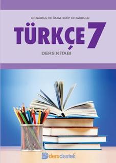 7. Sınıf Türkçe Dersdestek Yayıncılık Çalışma Kitabı Cevapları