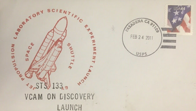 Space Shuttle Sts-133 Cover Vcam On Discovery Launch Pasadena Nasa Feb 24 2011