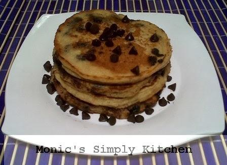 Resep pancake oatmeal chocochips