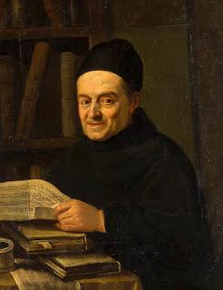 Retrato del Padre Giovanni Battista Martini (1706-1784), compositor y teórico italiano, por Angelo Carescimbeni (1734-1781), circa 1770.