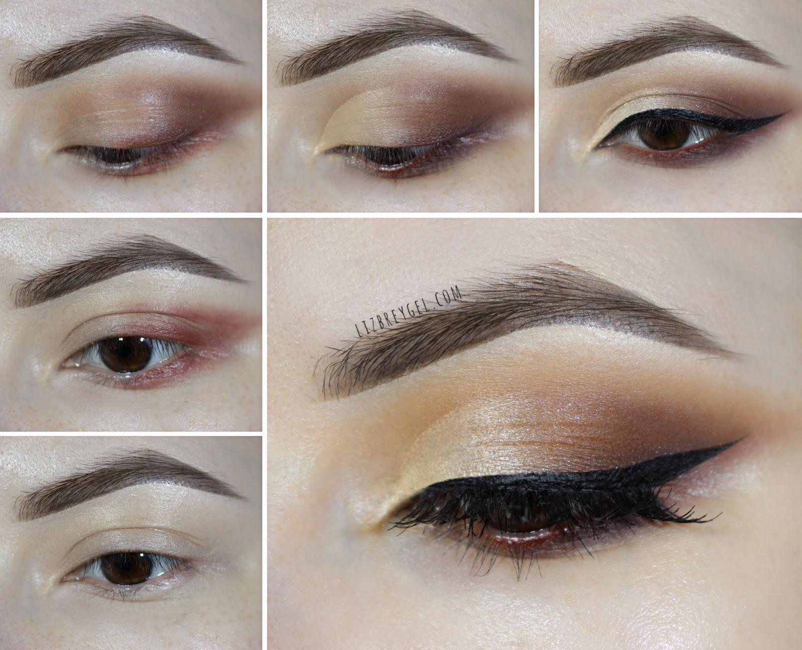 warm brown step by step makeup tutorial