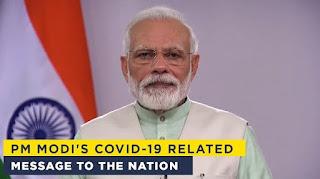 Modi video message to the nation, Modi message to nation for COVID19,Modi message to the nation