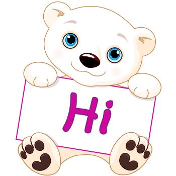 Polar Bear Greetings | Symbols & Emoticons Symbols Copy And Paste Cute