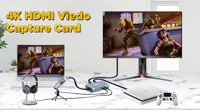 Tobo Video Capture Card, 4K UHD Capture Device For Live Streaming of Video Game Recording & Storage, Video Conferencing