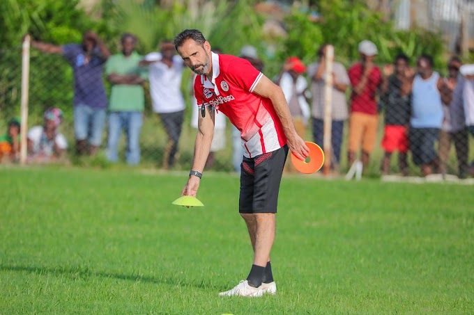 Coach Gomes has returns to Tanzania Safely, today he will oversee the team's training