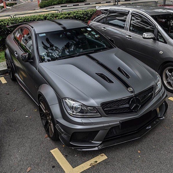 Clear Mercedes C63 BlackSeries