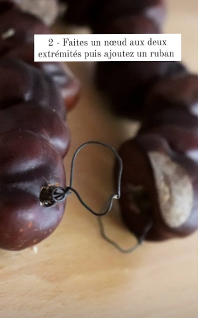 DIY couronne de marrons