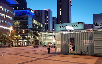 location of capoccis manchester at media city by the tram stop