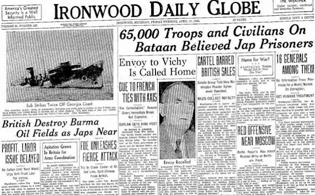 Ironwood Daily Globe, 17 April 1942 worldwartwo.filminspector.com