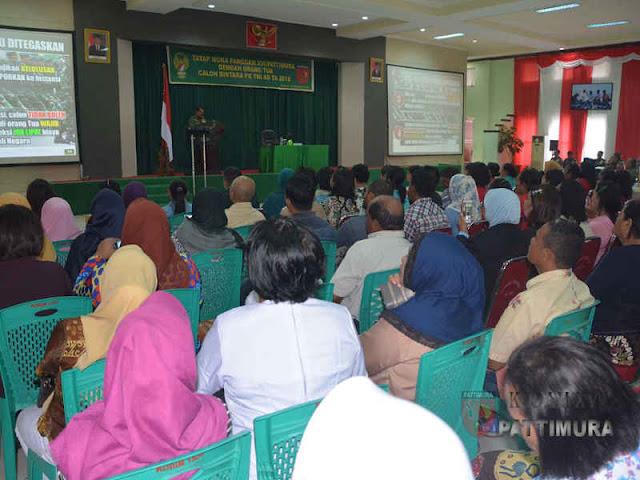 Kodam Pattimura Gelar Tatap Muka Keluarga Calon Bintara PK TNI AD
