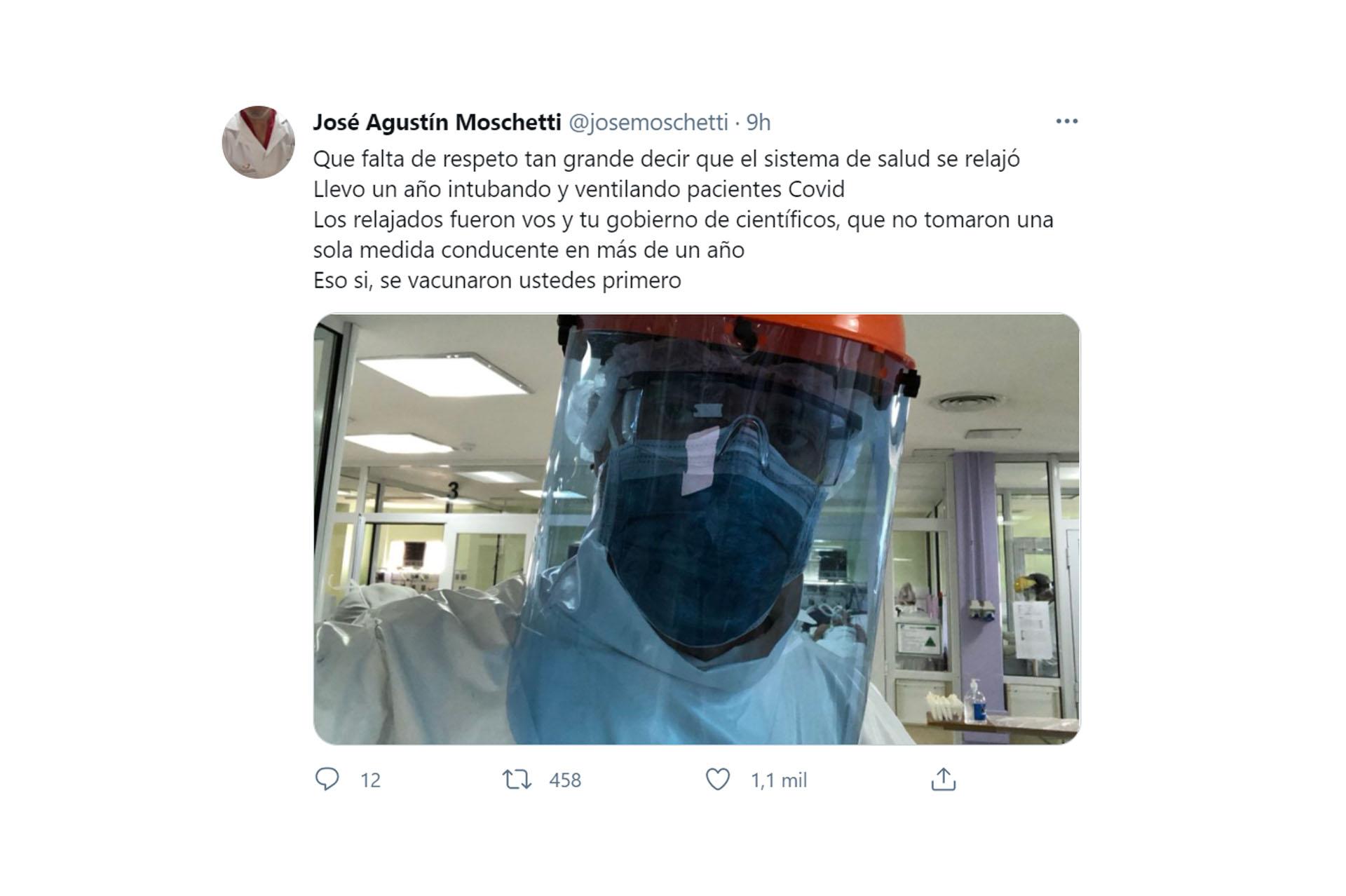 """Repudio de los profesionales de la salud por las declaraciones de Alberto Fernández: """"Relajados las pelotas"""""""