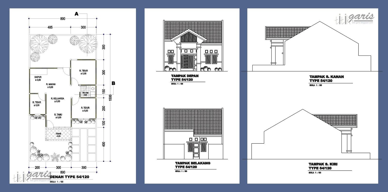 gambar denah rumah tipe 120 3